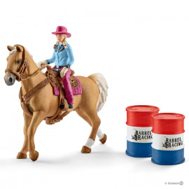 Barrel Racing Met Cowgirl