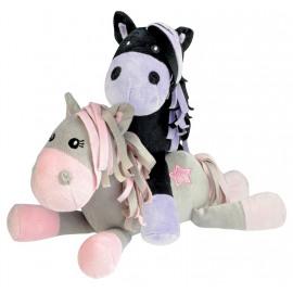 Pluche Paard White Star/ Black Star