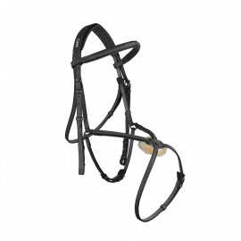 CWD Raised figure 8 noseband bridle with fancy stitching