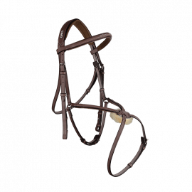 CWD Raised figure 8 noseband bridle with fancy stitching