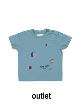 t-shirt tiny play grijsgroen P'tit Filou  zomer 2019