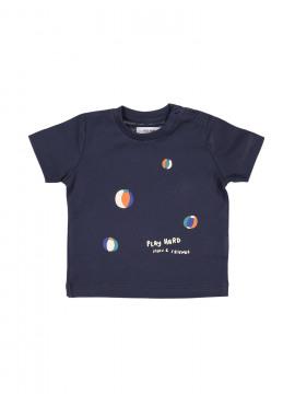 t-shirt creme donkerblauw P'tit Filou  zomer 2019