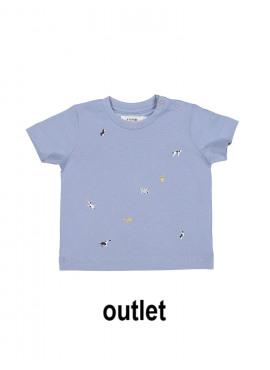 t-shirt small walk grijsblauw P'tit Filou  zomer 2019