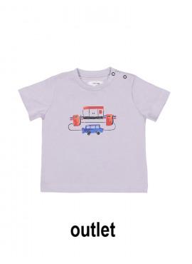 t-shirt little station lila P'tit Filou  zomer 2019