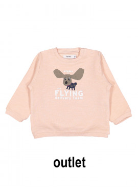 sweater little flying member girl lichtroze P'tit Filou  zomer 2019