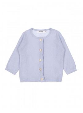 gilet tricot cosy lichtblauw P'tit Filou  zomer 2019