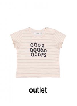 t-shirt oops streep roze-ecru P'tit Filou  zomer 2019