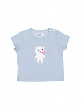 t-shirt bubblebear aqua P'tit Filou  zomer 2019