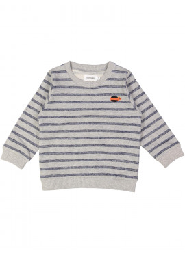 sweater hotdog streep grijs Filou&Friends zomer 2019