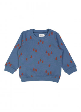 sweater power bears blauw Filou&Friends