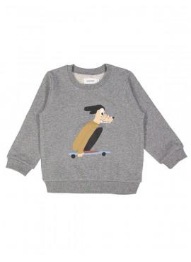 sweater skater dog grijs Filou&Friends