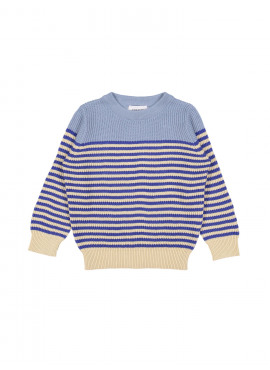pull tricot navy blauw Filou&Friends zomer 2019
