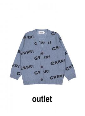 gilet tricot grrr grijsblauw Filou&Friends zomer 2019