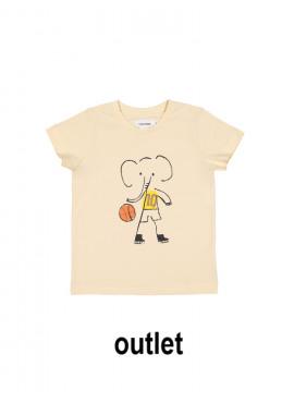 t-shirt elephant NBA vanille Filou&Friends zomer 2019