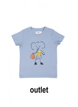 t-shirt elephant NBA grijsblauw Filou&Friends zomer 2019