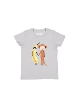t-shirt banana monkey grijs Filou&Friends zomer 2019