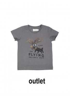 t-shirt flying member antraciet Filou&Friends zomer 2019