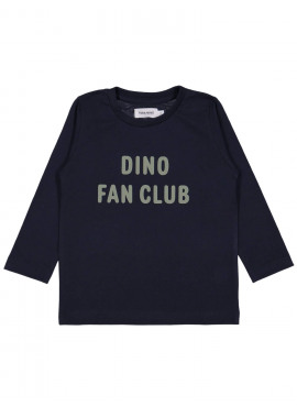 t-shirt dino fan club blauw Filou&Friends