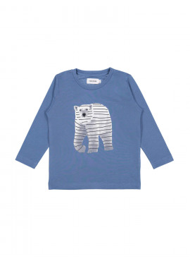 t-shirt polar bear blauw Filou&Friends