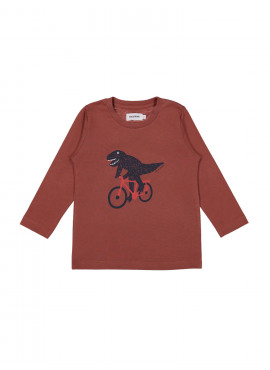 t-shirt cyclo dino brunette Filou&Friends