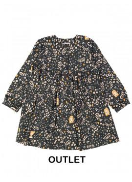 kleed floral girl zwart Filou&Friends