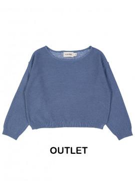 pull tricot boxy blauw Filou&Friends