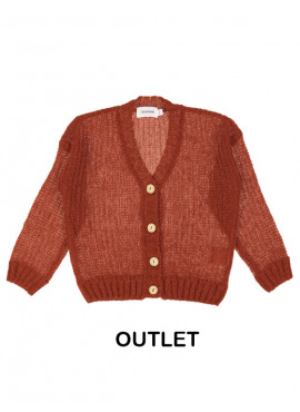 gilet tricot fluffy roest Filou&Friends