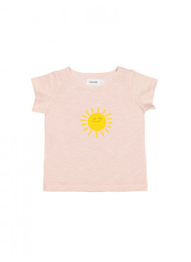 t-shirt sunny smile slub roze Filou&Friends zomer 2019