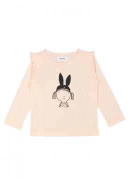 t-shirt bunny ears lichtroze Filou&Friends