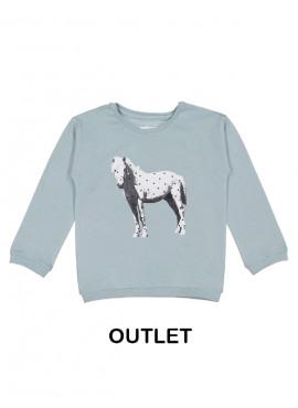 t-shirt horse lichtblauw Filou&Friends
