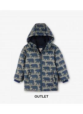 Black Bears Fleece Lined Puffer Coat Hatley winter 2018
