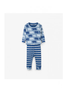 Polar Bear Silhouettes Organic Cotton Baby Pajama Hatley winter 2018