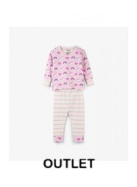 Unicorns & Rainbows Organic Cotton Baby Pajama Set Hatley winter 2018