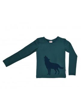 t-shirt wolf groen Baba-Babywear winter 2018
