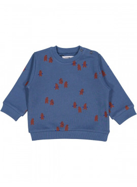 sweater power bears blauw P'tit Filou