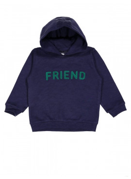 sweater kap friends blauw Filou&Friends