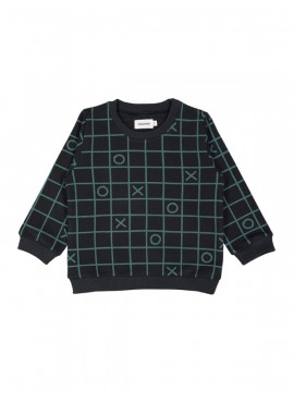 sweater tictactoe zwart Filou&Friends