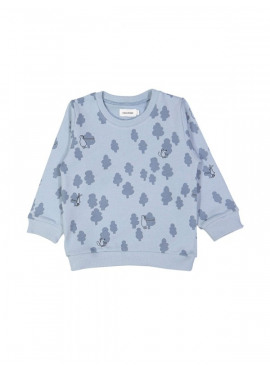 sweater tree huggers blauw Filou&Friends