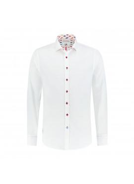 Shirt white stretch tribal
