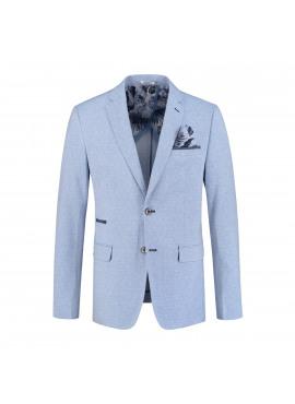 Blazer light blue linnen look