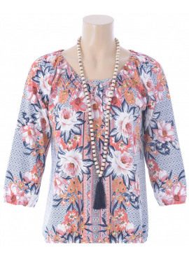 K-design top met ketting&print Q885