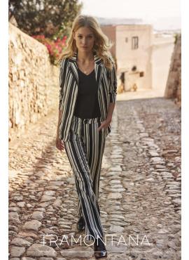 Tramontana trousers wide vertical stripe