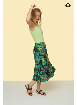 TRAMONTANA shirt jungle print wrap