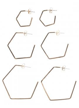 pclaxago van Pieces - SET MET 3 PAAR OORBELLEN