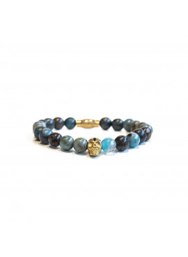 armband van black and gold - m904