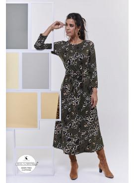K-design Maxi jurk met knoop O412 REEDS GELEVERD !