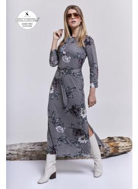 K-design maxi jurk met riem O847