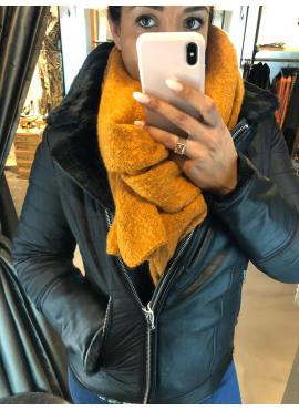 jacket nylon & fur van Geisha -98531 REVERSIBLE / OMKEERBAAR