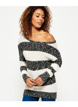 West textured stripe knit