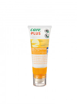 CARE PLUS Sun Protection Face&Lip SPF50+, 20ml + Lipstick